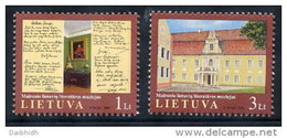LITHUANIA 2002 Maironis Literature Museum Set Of 2 MNH / **.  Michel 801-02 - Lithuania