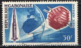 GABON - 1966 - DIAMANT ROCKET A-1 - SATELLITE SPAZIALE FRANCESE - TERRA - MAPPA DELL'AFRICA - USATO - Gabon (1960-...)