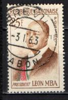 GABON - 1962 - PRESIDENTE LEON MBA - 25 F. - USATO - Gabon (1960-...)