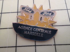 Pin811b Pin's Pins / Beau Et Rare / AUTOMOBILE : FORD AGENCE CENTRALE MARSEILLE - Ford