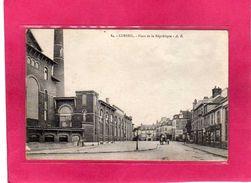 91 Essonne, Corbeil, Place De La République, Animée, Usine, 1918, (A. R.) - Corbeil Essonnes