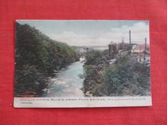 Willimantic  River From Bridge  Willimantic     Connecticut >  - Ref 2763 - United States