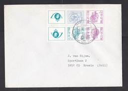 Belgium: Cover To Netherlands, 1979, 4 Stamps + Tabs, Booklet Pane, Rare Real Use (minor Discolouring) - Belgium