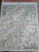 Superbe Carte Entoilée - LA HULPE - Année 1872 - Dimensions 57 / 44 CM - Cartes Géographiques
