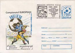 SOCCER, ENGLAND'96 EUROPEAN CHAMPIONSHIP, COVER STATIONERY, ENTIER POSTAL, 2000, ROMANIA - Championnat D'Europe (UEFA)
