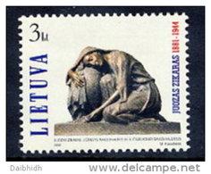 LITHUANIA 2001  Zikaras Anniversary MNH / **.  Michel 772 - Lithuania