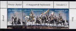 Hongrie - Yvert Triptyque N° 3458/60 Neufs ** (MNH) - Cheval - Peinture - Unused Stamps