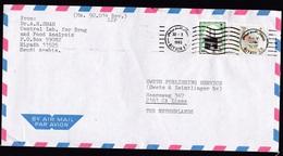 Saudi Arabia: Airmail Cover To Netherlands, 1993, 2 Stamps, Bird, Black Stone Mecca (traces Of Use) - Saoedi-Arabië