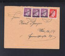 Österreich Brief Aufdrucke Auf Dt. Reich - 1945-60 Briefe U. Dokumente