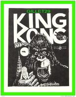 AFFICHE DE FILM - KING KONG , 1933 RKO - 1984 GORDON -  MOVIE MONSTER GREATS - UNICORN STUDIOS - - Affiches Sur Carte