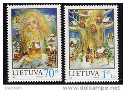 LITHUANIA  1998 Christmas Set Of 2 MNH / **.  Michel  680-81 - Lithuania