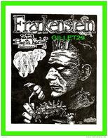 AFFICHE DE FILM - FRANKENSTEIN WITH BORIS KARLOFF - 1984 GORDON -  MOVIE MONSTER GREATS - UNICORN STUDIOS - - Affiches Sur Carte