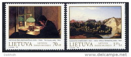 LITHUANIA 1998 Paintings Set Of 2 MNH / **. Michel 678-79 - Lithuania