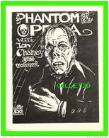 AFFICHE DE FILM - THE PHANTOM OF THE OPERA WITH  CHANEY, 1925 - 1984 GORDON -  MOVIE MONSTER GREATS - UNICORN STUDIOS - - Affiches Sur Carte
