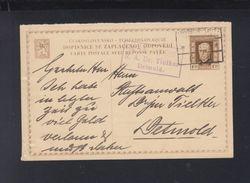 Czechoslovakia Stationery  1928 To Germany Detmold - Ganzsachen