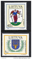 LITHUANIA 1995 Town Arms Set Of 2  MNH / **. Michel 591-92 - Lithuania