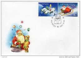 LITHUANIA 2005 Christmas FDC.  Michel 891-92 - Lithuania