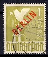 Berlin YT N° 18 Surcharge Rouge Oblitéré. Signé Schlegel. B/TB. A Saisir! - [5] Berlin