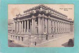 Small Old Postcard Of Royal Opera House,Malta,V54. - Malta