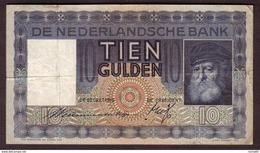 PAYS BAS - 10 Gulden Du 19 06 1936 - Pick 49 TB+ - [2] 1815-… : Kingdom Of The Netherlands