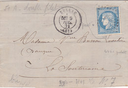 726 - CERES 60 - 9.7.72 - BELLAC  à  LA SOUTERRAINE - Postmark Collection (Covers)
