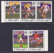 FUJEIRA AERIENS N°   37 ** MNH Neufs Sans Charnière, 5 Valeurs, TB  (D2951) Football, Coupe Du Monde - Fudschaira