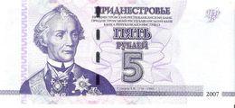 Transnistria - Pick 43 - 5 Rublei 2007 - Unc - Banconote