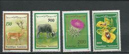 TUNISIE Scott 985-988 Yvert 1156-1159 (4) **  Cote 4,20$ 1990 - Tunisie (1956-...)