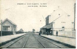 N°60451 -cpa Staden -avant La Guerre- La Gare- - Staden