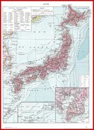 Carte Du Japon Recto Art Japonais Verso Larousse 1948 - Vieux Papiers