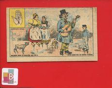 Chocolat Grondard Chromo Chiromancie Comique Main Ligne Divination Malheur Artiste Baryton Guitare Chanteur Rue - Other