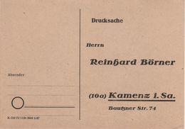 Drucksache Postkarte AK Kamenz Reinhard Börner Bautzner Str 74 Bei Königsbrück Pulsnitz Schwepnitz Elstra Bernsdorf - Advertising