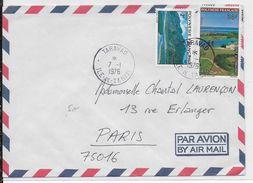 1976 - POLYNESIE - ENVELOPPE Par AVION De TARAVAO (TAHITI) => PARIS - Polynésie Française