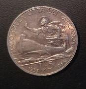 CITTA' DEL VATICANO - 5 LIRE GIUBILEO - IUB 1933/1934 - QUALITA' Q/FDC - NON PULITA - ARGENTO - Vatican