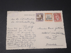 VATICAN - Carte Postale Pour La France En 1938 , Affranchissement Plaisant - L 10576 - Lettres & Documents