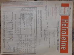 SALON DE PROVENCE FACTURE HELIOLEINE POUR MOTEUR AUTO ET AVION - 1900 – 1949