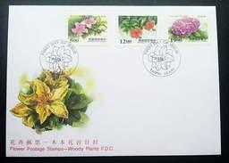 Taiwan Flowers - Woody Plants 1997 Flower Flora Flowers (stamp FDC) - 1945-... República De China