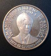 MEDAGLIA - EMANUELE FILIBERTO DI SAVOIA  - PRINCIPE DI PIEMONTE E DI VENEZIA ANNO 1990- QUALITA' FDC - NON PULITA - AG - Royal/Of Nobility