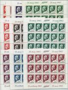 Yugoslavia 1967: Definitive - Tito. 15 Complete Sets In 10 Mini Sheets ** MNH - 1945-1992 Repubblica Socialista Federale Di Jugoslavia