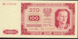 POLAND P139 100 ZLOTYCH 1948 PREFIX KR UNC. - Polen