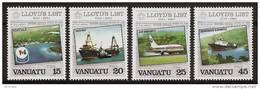 VANUATU 1984 - LLOYD'S LIST / Shipping News Journal / Ships Planes 4v - Mi 674-77 MNH ** Cv€1,80 V024 - Vanuatu (1980-...)