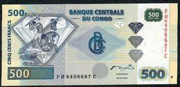 CONGO D.R. P96a 500 FRANCS 2002 #PH/C Sign.1 G&D.  UNC. - Congo