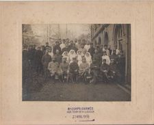 DOCUMENT / PHOTO DE LISIEUX / MILITAIRES / INFIRMIERES / CROIX ROUGE / HOPITAL TEMPORAIRE N° 41 - Lisieux