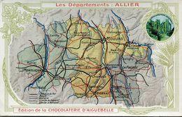 PUBLICITE(CHOCOLATERIE D AIGUEBELLE) ALLIER - Werbepostkarten