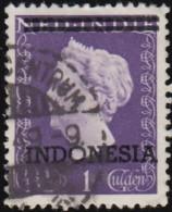 """NETHERLANDS INDIES - Scott #301 Queen Wilhelmina """"Overprinted"""" / Used Stamp - Netherlands Indies"""