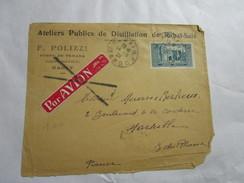 Lettre Du Maroc Pour La France Ateliers De Distillation Rabat-salé F.POLIZZI Porte De Temara 14/3/39 - Morocco (1956-...)