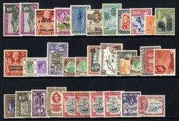 KGVI DEFINITIVE SETS M Collection Housed In A Black Page Stock Book Incl. Ascension, B.M.A. Somalia, British Solomon Isl - Non Classés