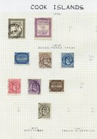 BRITISH COMMONWEALTH VFU Ranges On Leaves From Cook Islands Incl. 1892 1d, 1½d, 1893 To 5d, 1919 Set, 1920 Set, 1932 Set - Non Classés