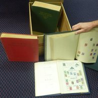 BRITISH EMPIRE Carton Containing Imperial Albums 1840-1928 Virtually Empty, New Age Album Of British Commonwealth Mainly - Unclassified
