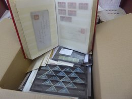 MISCELLANEOUS Range In Box Of Non-related Material Incl. Stock Book Of Great Britain QV Incl. Many 1d Red Stars, 1841 1d - Unclassified